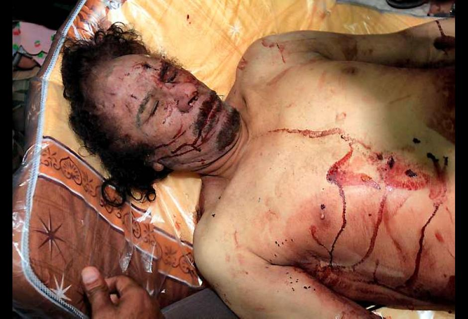 Gadafi murió a manos de rebeldes libios, en su natal Sirte