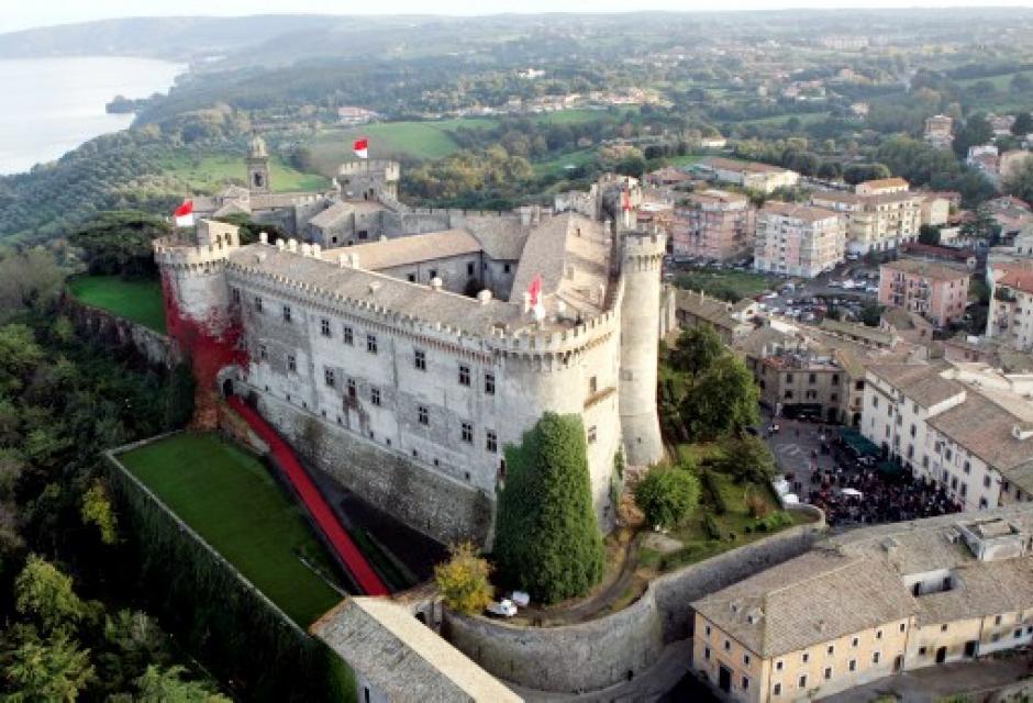 Castillo en Bracciano, Italia