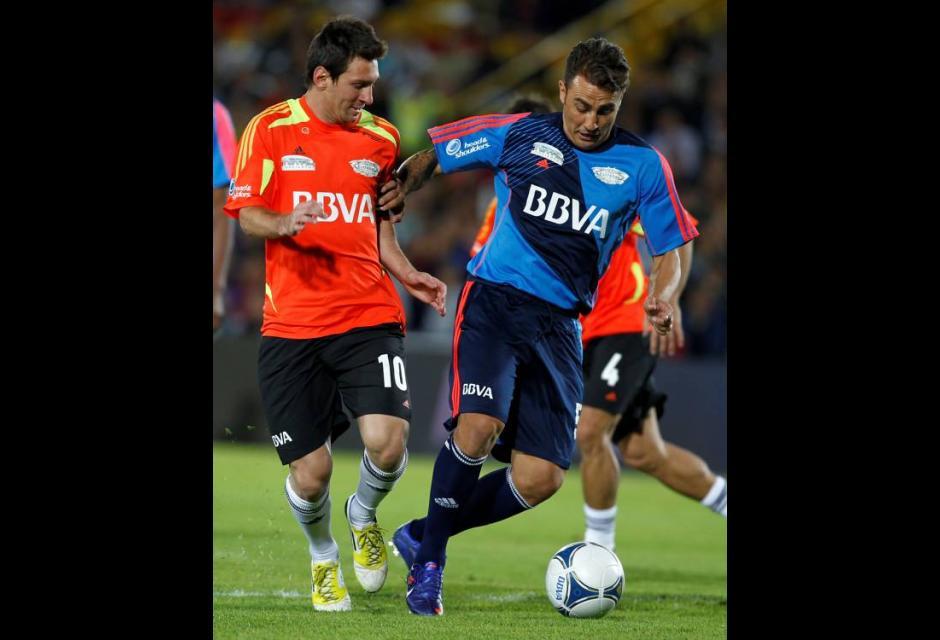 Lionel Messi y  Fabio Cannavaro