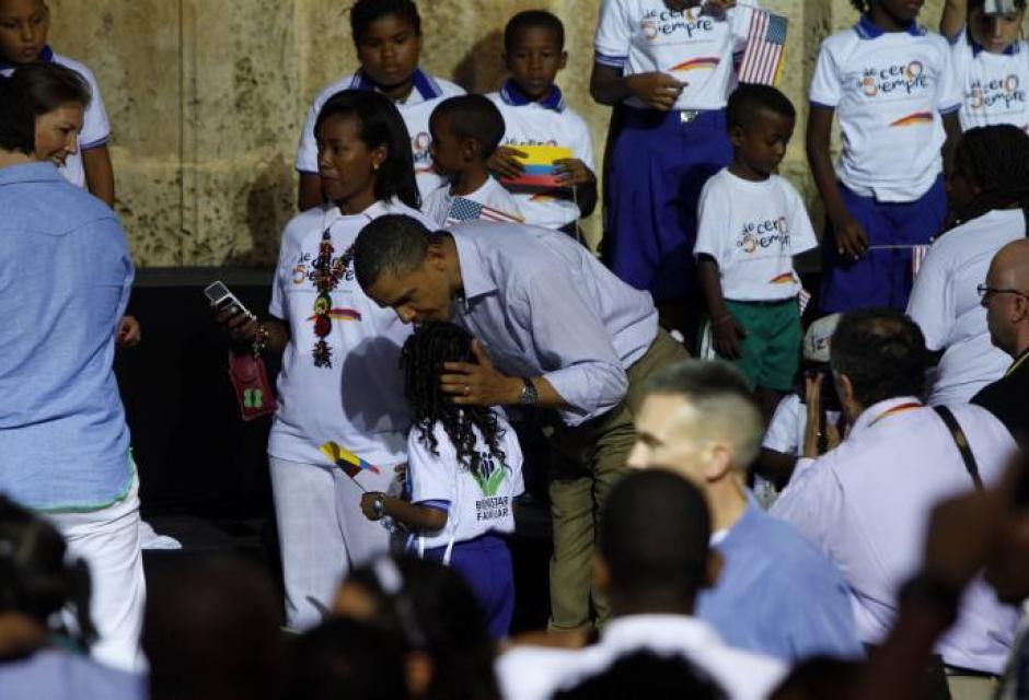 Obama en Plaza San Pedro Claver Cartagena