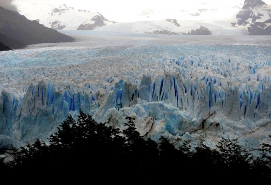 Paisajes glaciares en Argentina
