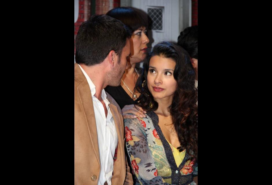 Los protagonistas Juan Pablo Raba y Paola Rey.