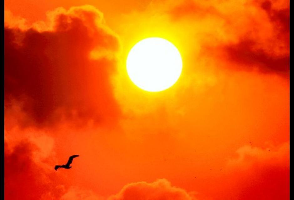 Puesta de sol en la ciudad amurallada