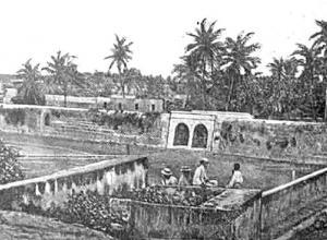 Desde el Baluarte de San Lucas, Puertas de la Paz y Concordia, en 1910.