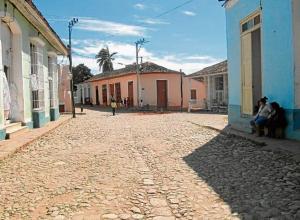 Calle de Trinidad en Cuba.