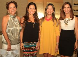 Guiomar de Salas, María Carolina Alcocer, Tatiana Vergara y Mayra de Cavelier.