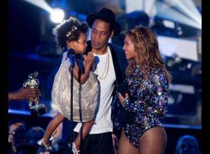 Jay Z, Beyonce y Blue Ivy.