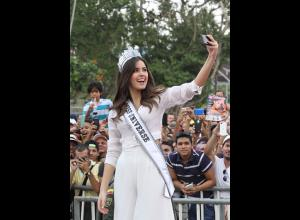 Paulina Vega Dieppa, Miss Universo 2014 - 2015, en Barranquilla.