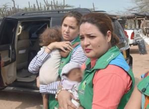 La Directora del ICBF está en La Guajira y se encargó del traslado de las menores.