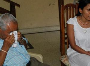 Fausto Zapa, padre de Jairo Zapa, pidió justicia.