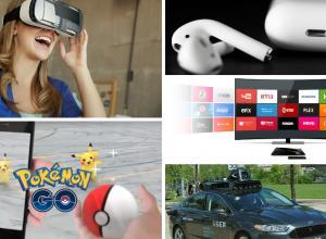 Realidad virtual, Pokémon Go, Earpods de Apple, Streaming y vehículos autónomos fueron los hitos tecnológicos que marcaron 2016