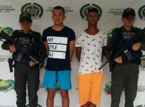 Dos capturados por el Gaula por extorsión a una mujer en Cartagena.