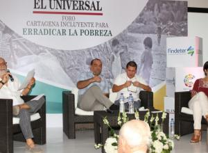 Foro Cartagena incluyente para erradicar la pobreza, en El Universal.