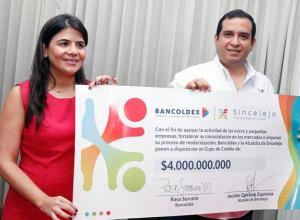 La Alcaldía de Sincelejo y Bancoldex lanzaron la línea especial de crédito.