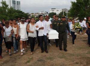 Entierro de Sofía Figueroa, niña de 7 años que mataron en San Fernando, hecho en el que salió herida su madre, Karen Figueroa.