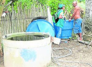 Limpieza de patios por mosquitos transmisores del chicungunya.
