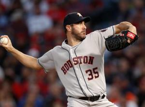 Justin Verlander. Pitcher de los Astros de Houston.