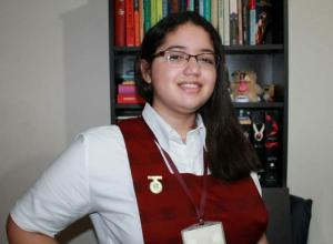 Ganadora en el programa Ondas Bolívar para ir al intercambio 'Sakura Science' en Japón.