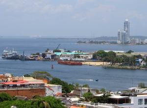 Panorámica de la base Naval en Cartagena