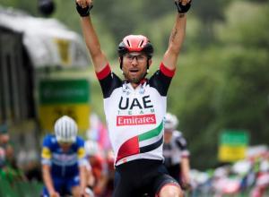 Diego Ulissi. Ganador etapa 5 de la Vuelta a Suiza 2018.
