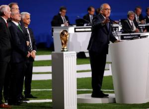 Carlos Cordeiro en el 68º Congreso de la FIFA en Moscú.