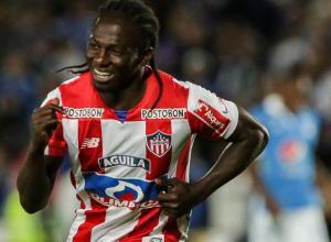 Yimmi Chará celebra gol ante Millonarios. Liga Águila II. Agosto-2018