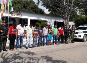 Capturados 14 presuntos miembros del Clan del Golfo en San Jacinto, El Carmen de Bolívar y Magangué.