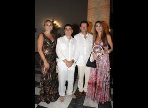 Gladys San Miguel, Andrés Montoya, Alberto Rengifo y Giannina Fasanelli.