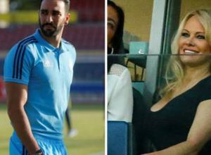 Pamela Anderson y su novio Adil Rami.