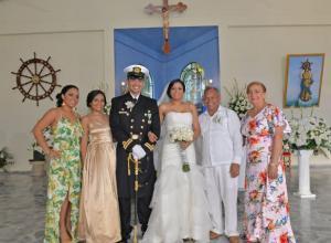 Gladys Barros, Andrea Ayala, Nelson Galindo, Kathy Barros, Jorge Galindo y América Rodríguez.