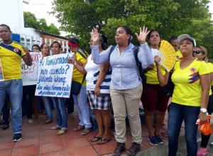 Protesta en el Ana María Pérez de Otero