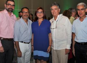 Augusto Lemaitre, Nicolás Pareja, Antonella Farah, Juan José Mogollón y Ramón Pereira.