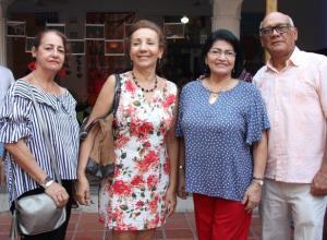 Betsy Mora, Dilcia Correa, Marina Serpa y Junio Fernández.