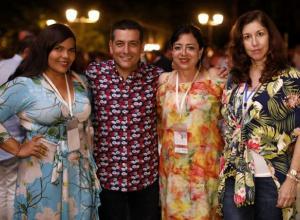 Esther Escorcia, Dumek Turbay, Edith Ayola y Mary Faciolince.