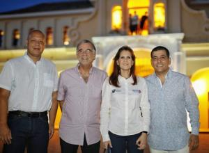 Alaín Manjarrés Flórez, gobernaldor de San Andrés; Eduardo Verano, de Atlántico; y Rosa Cotes, de Magdalena.