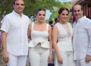 Guillermo Eljach, Claribel Mejía, Marisol Mejía y Miguel Cuéter.