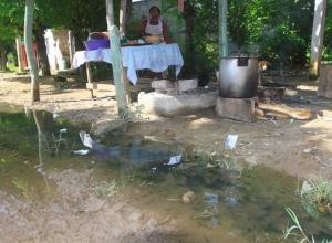 Manjoles desbordados en Marialabaja