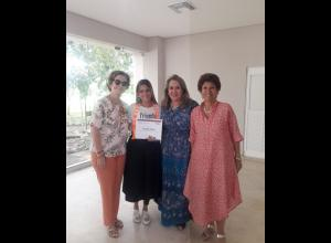Mona Desmoineaux, Natalia Zárate, Soraya Jaime y Prince Martínez.