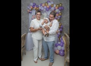 Nelsy Márquez, Luciana Paz Hadechine y Álvaro Paz.