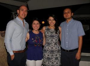 Óscar Olave Molano, Claudia Ospina Ramírez, Laura Alarcón Forero y Cristian Casas Cárdenas.