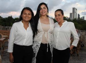 Alis Martelo, Evelin Fernández y Mayra Coneo.