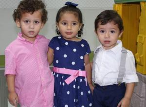 Simón Perea, Sarah Lequerica y Samuel Gómez.