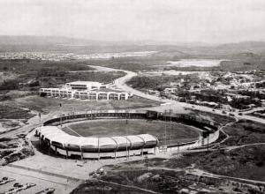 Estadio Once de Noviembre.