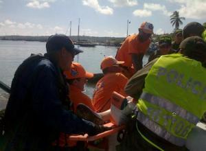 Armada socorre a turista que se accidento cerca de San Andrés.